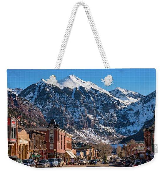 Downtown Telluride Weekender Tote Bag