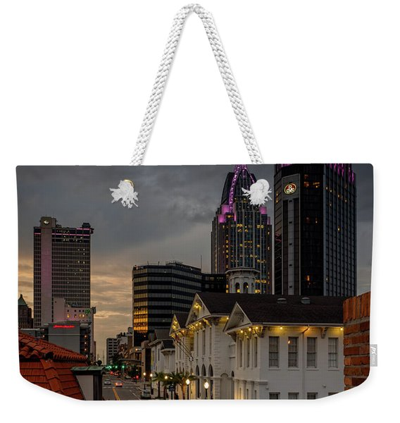 Downtown View From Fort Conde Weekender Tote Bag