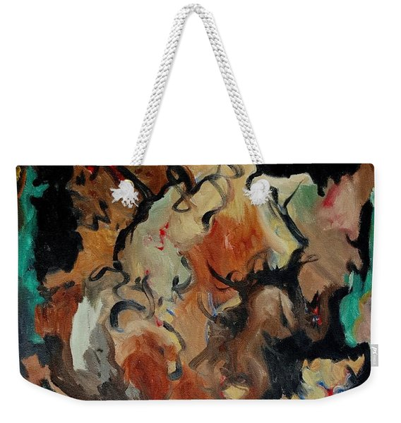 Dr Wolf And The Black Cat Weekender Tote Bag