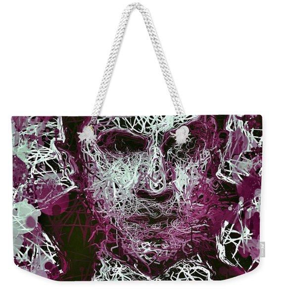 Weekender Tote Bag featuring the mixed media Dracula by Al Matra