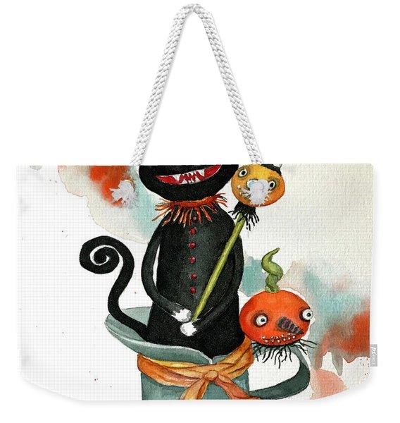 Dracula Vintage Cat Weekender Tote Bag