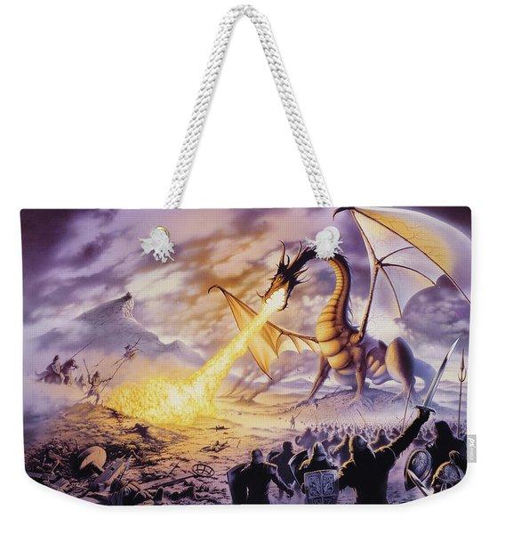Dragon Battle Weekender Tote Bag