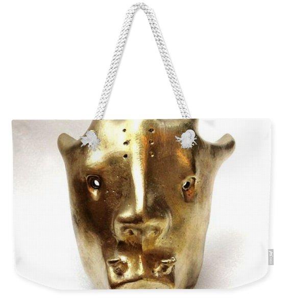 Dragon Mask Weekender Tote Bag