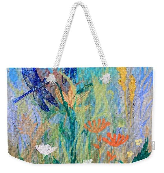 Dragonflies In Wild Garden Weekender Tote Bag