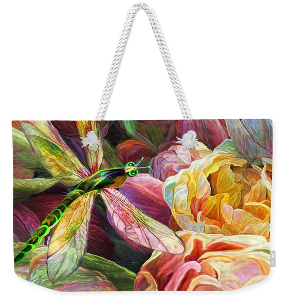 Dragonfly And Tulips 1 Weekender Tote Bag
