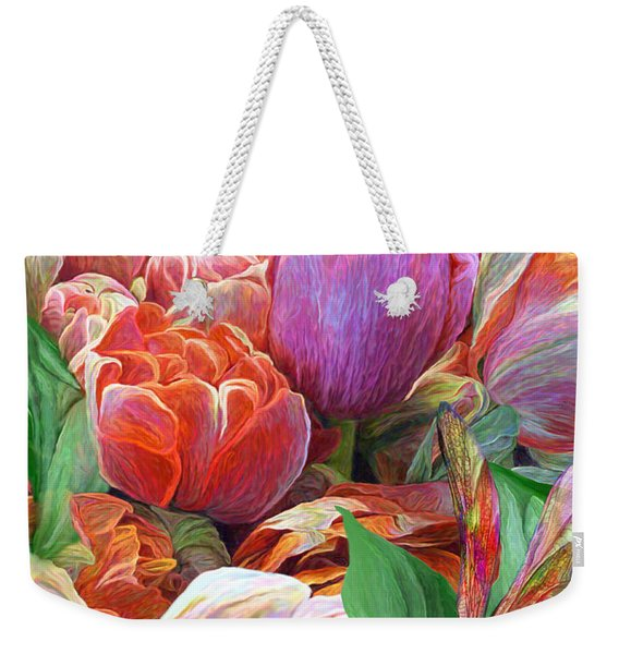 Dragonfly And Tulips 2 Weekender Tote Bag