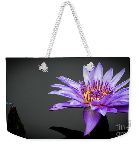 Dragonfly And Water Lily Weekender Tote Bag