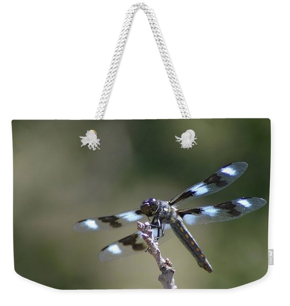 Dragonfly Hanging On  Weekender Tote Bag
