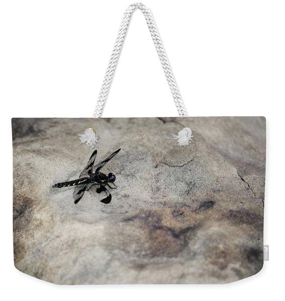 Dragonfly On Solid Ground Weekender Tote Bag