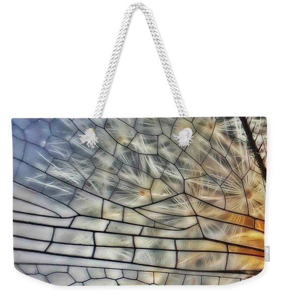Dragonfly Wing Weekender Tote Bag