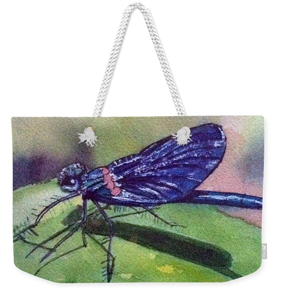 Dragonfly With Shadow Weekender Tote Bag