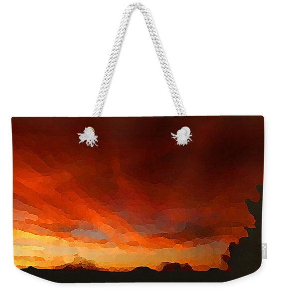 Drama At Sunrise Weekender Tote Bag