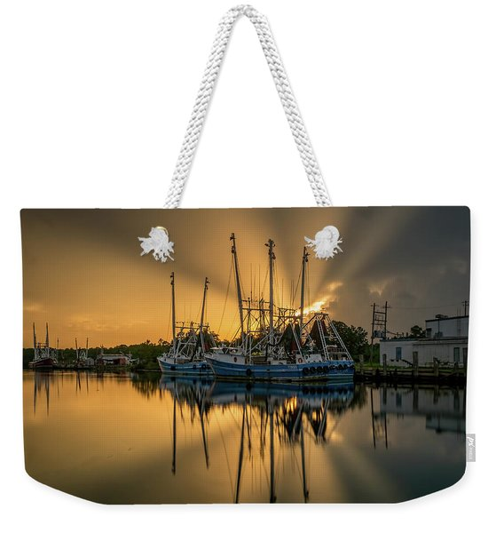 Dramatic Bayou Sunset Weekender Tote Bag