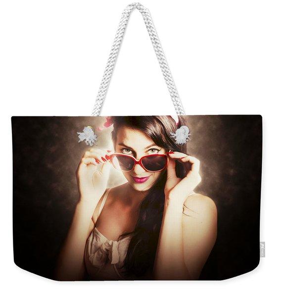Dramatic Pin Up Fashion Photograph Weekender Tote Bag