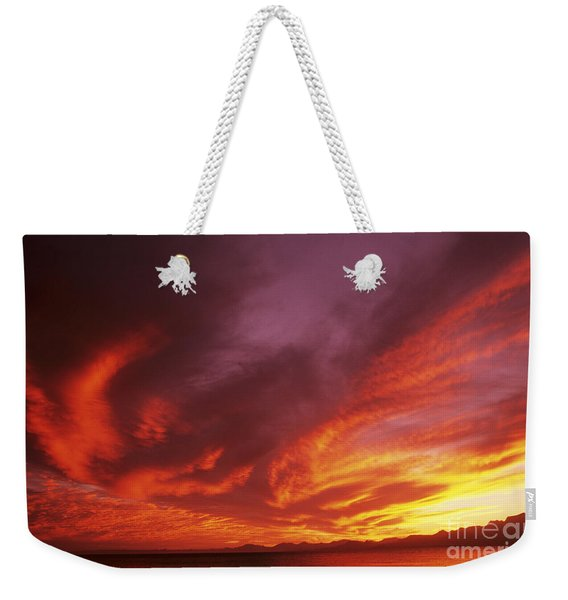 Dramatic Sunset Weekender Tote Bag