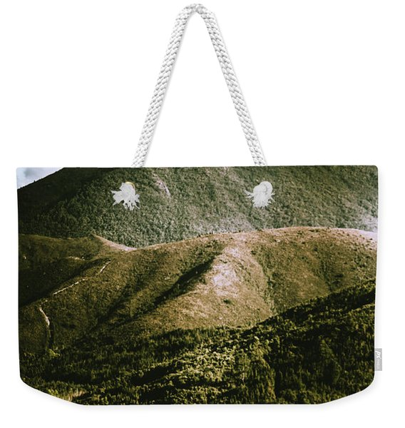 Dramatic View On Mount Zeehan Against Stormy Cloud Weekender Tote Bag