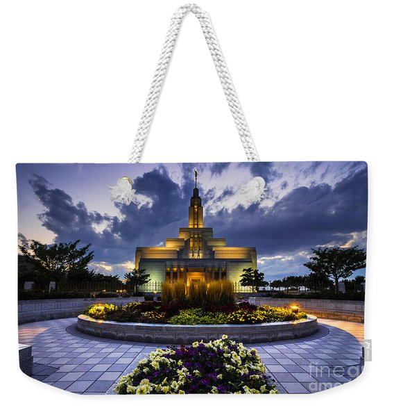 Draper Mormon Lds Temple - Utah Weekender Tote Bag