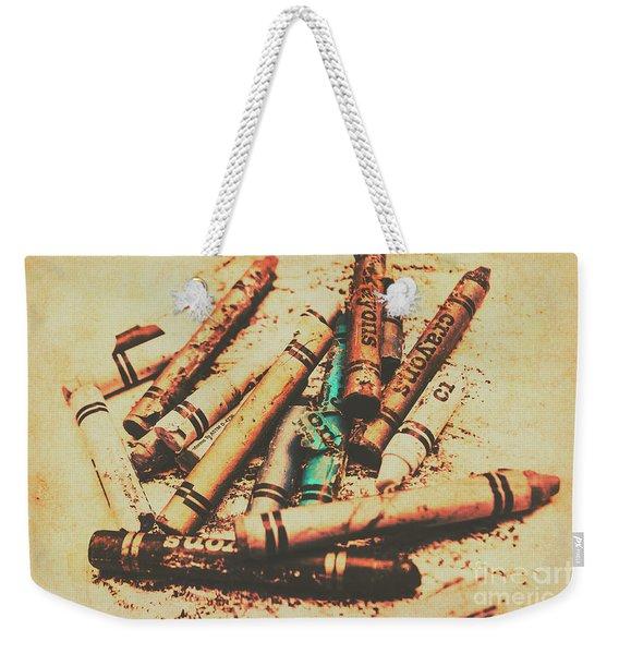 Draw Of Vintage Art Weekender Tote Bag
