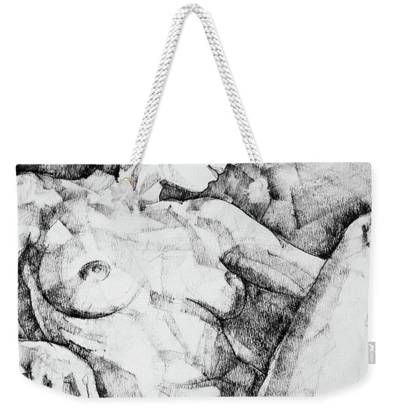 Drawing Beautiful Girl Figure Weekender Tote Bag