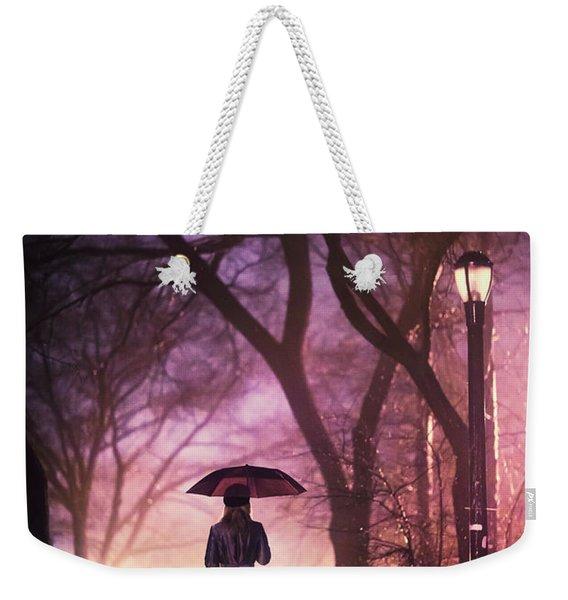 Dream Beneath Winter Rain Weekender Tote Bag