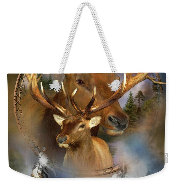 Dream Catcher - Spirit Of The Elk Weekender Tote Bag