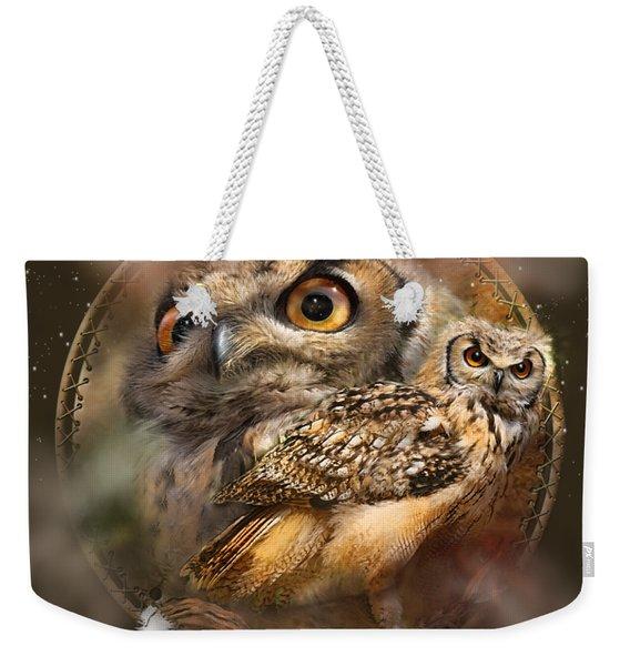 Dream Catcher - Spirit Of The Owl Weekender Tote Bag