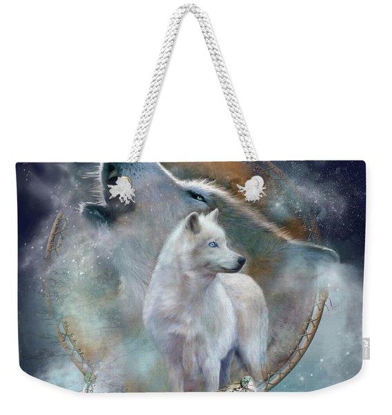 Dream Catcher - Spirit Of The White Wolf Weekender Tote Bag