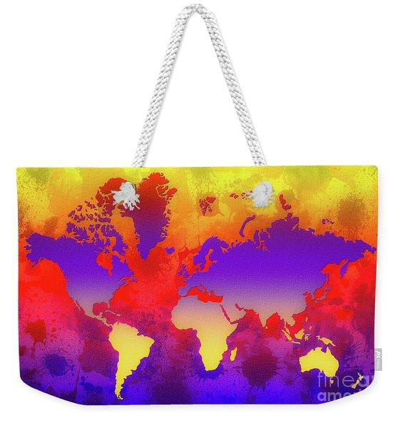Dream World Map Weekender Tote Bag