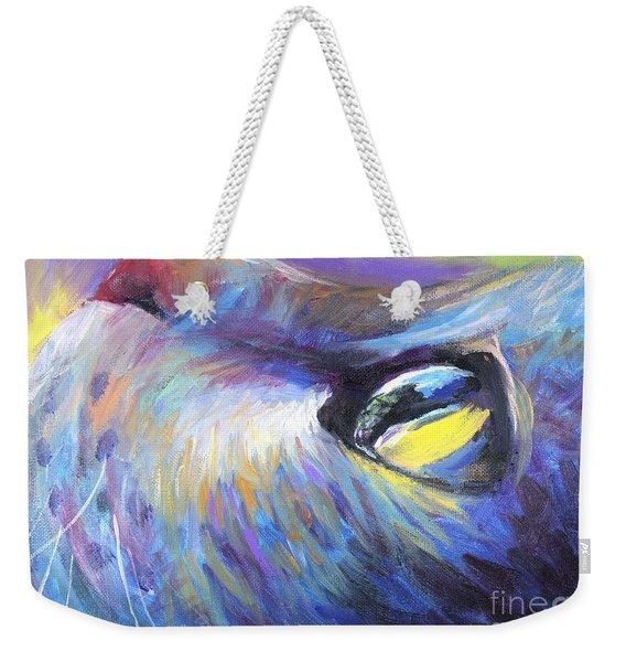 Dreamer Tubby Cat Painting Weekender Tote Bag