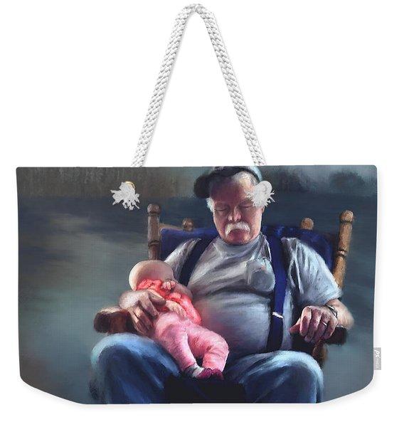 Dreaming With Grandpa Weekender Tote Bag