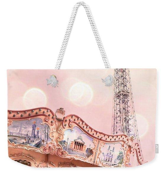 Eiffel Tower Carousel Merry Go Round - Paris Baby Girl Nursery Decor  Weekender Tote Bag