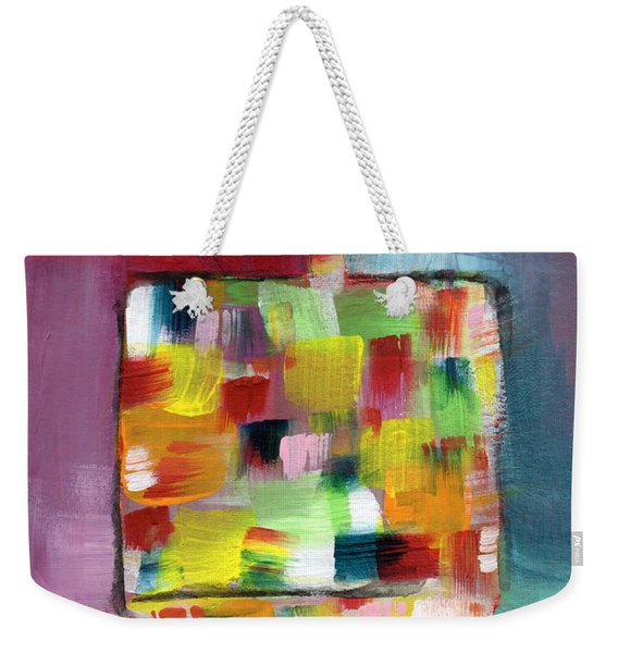 Dreidel Of Many Colors- Art By Linda Woods Weekender Tote Bag