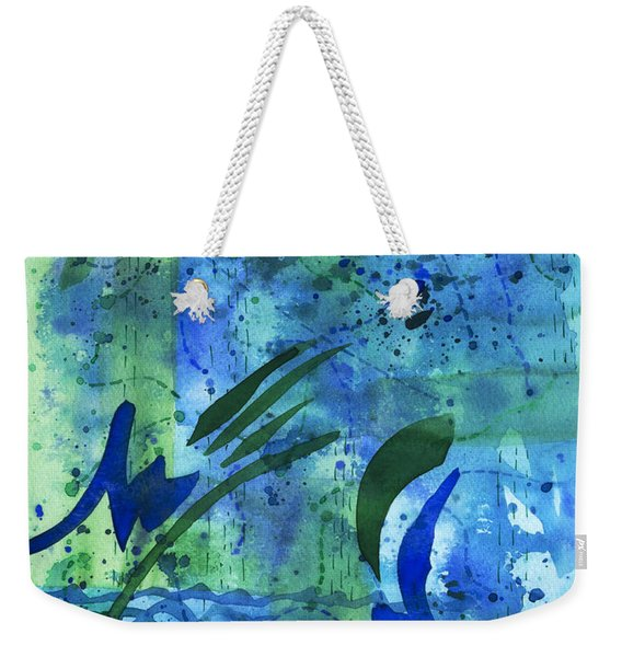 Drenched Watercolor Weekender Tote Bag