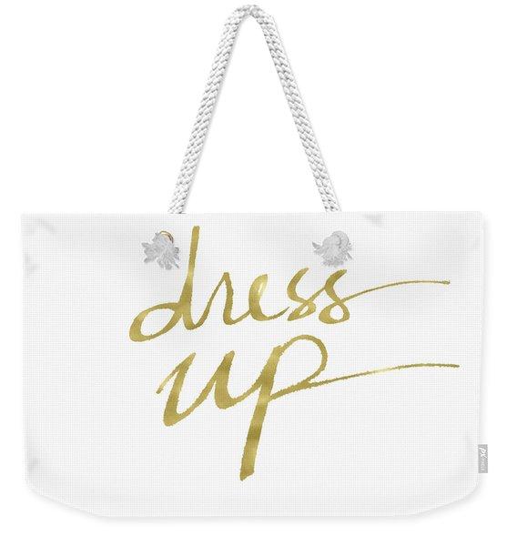 Dress Up Gold- Art By Linda Woods Weekender Tote Bag