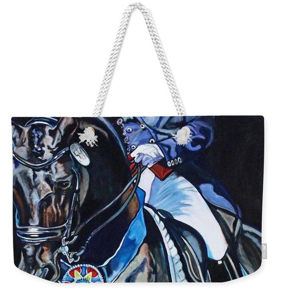 Dressage Stallion Weekender Tote Bag