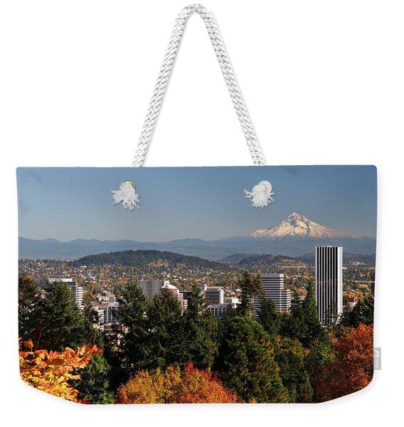 Dressed In Fall Colors Weekender Tote Bag