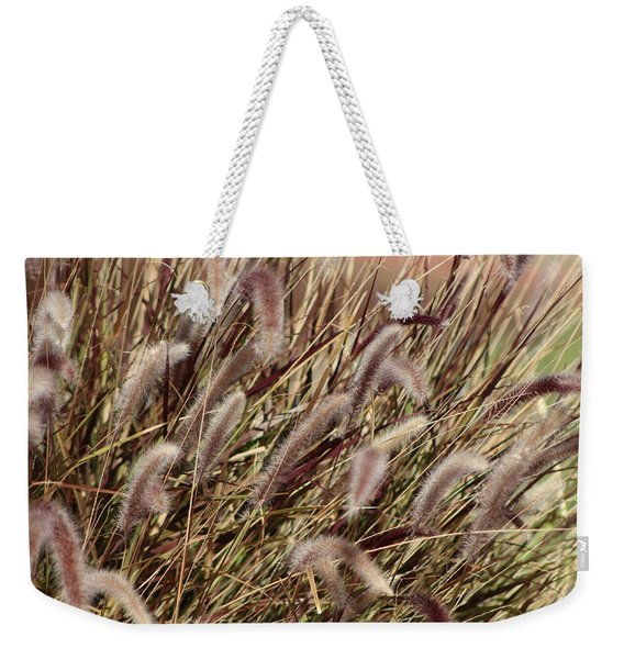 Dried Grasses In Burgundy And Toasted Wheat Weekender Tote Bag