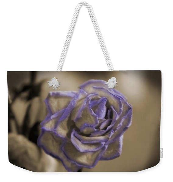 Dried Rose In Sienna And Ultra Violet Weekender Tote Bag