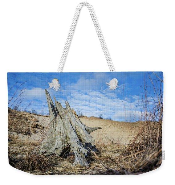 Dried Stump At Warren Dunes Weekender Tote Bag