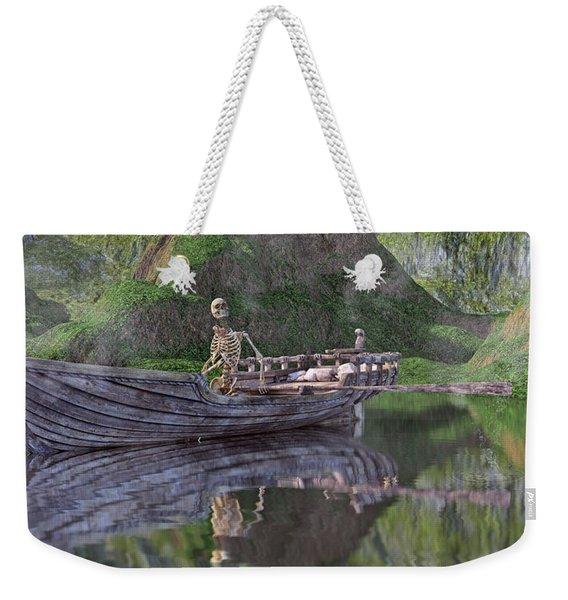Drifter On The Lake Weekender Tote Bag