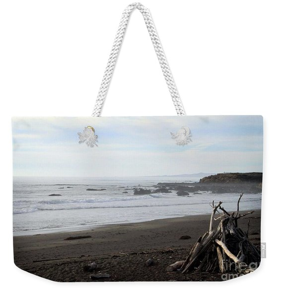 Driftwood And Moonstone Beach Weekender Tote Bag