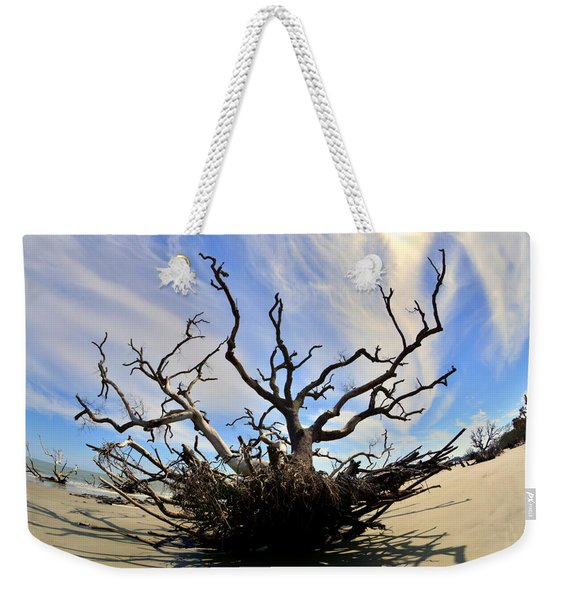 Driftwood And Roots Hunting Island Sc Weekender Tote Bag