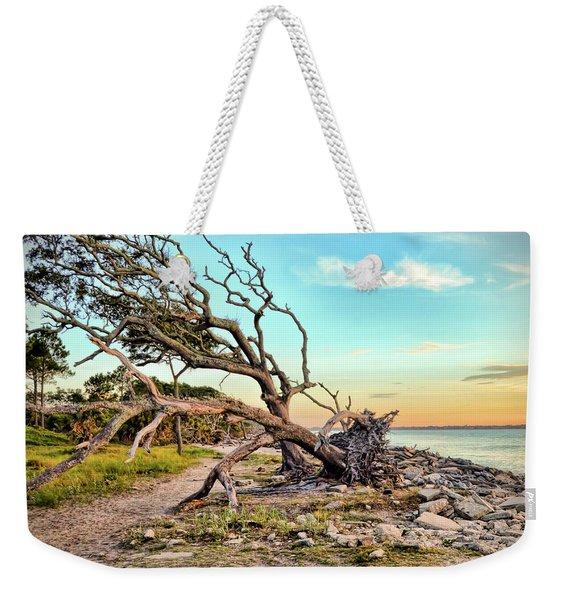 Driftwood Beach Morning 2 Weekender Tote Bag