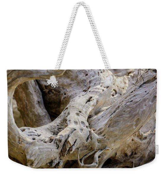 Driftwood On The Beach Weekender Tote Bag