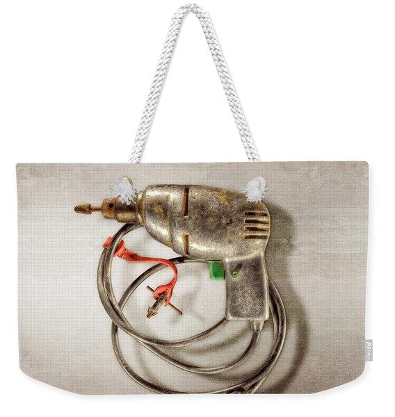 Drill Motor, Green Trigger Weekender Tote Bag
