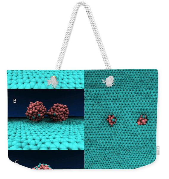 Drilling Of Graphene Nanoparticles Weekender Tote Bag