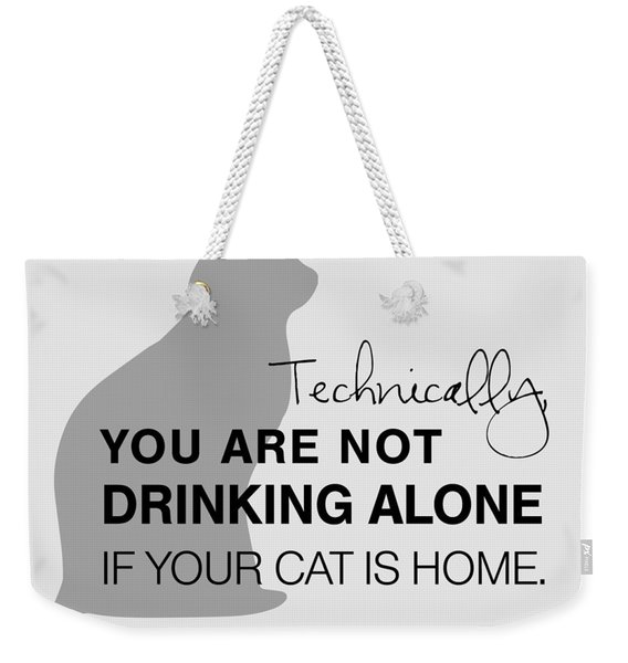 Drinking With Cats Weekender Tote Bag