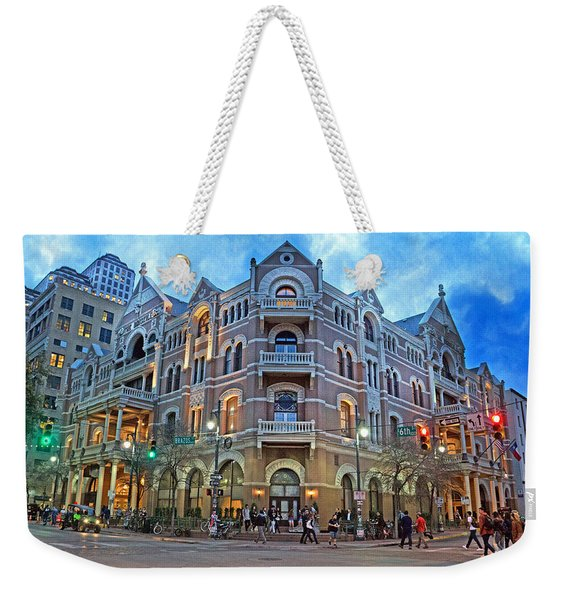 Driskill Hotel Light The Night Weekender Tote Bag
