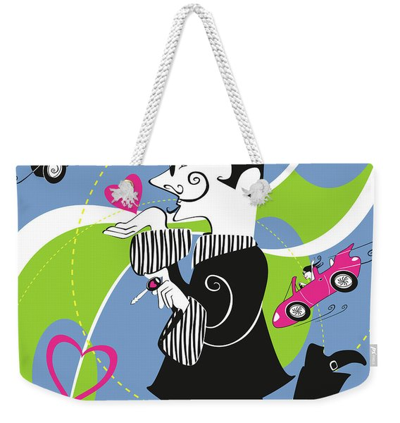 Driven To Love Weekender Tote Bag