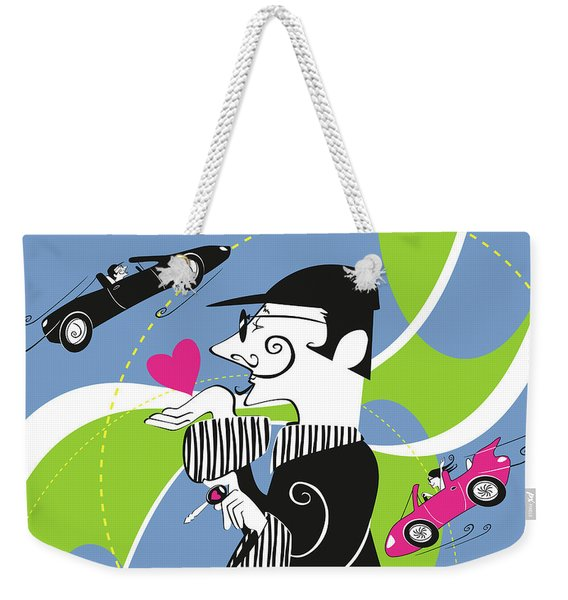 Driven To Love Weekender Tote Bag